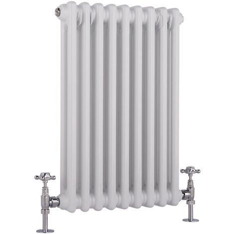 Hudson Reed Windsor - Radiateur Rétro Horizontal Blanc à Colonnes 2 x 9 - 512 Watts - 60 x 42,5cm