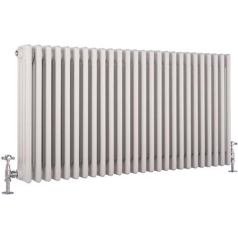 Hudson Reed Windsor - Radiateur Rétro Horizontal Blanc à Colonnes 4 x 26 - 2447 Watts - 60 x 119cm