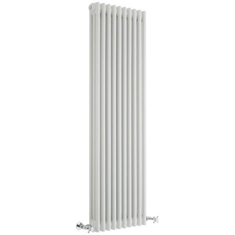 Hudson Reed Windsor - Radiateur Rétro Vertical Blanc à Colonnes 3 x 10 - 1717 Watts - 150 x 47cm
