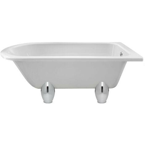Hudson Reed Winterburn 1500mm x 750mm Freestanding Shower Bath with Deacon Leg Set - RLF1500M1