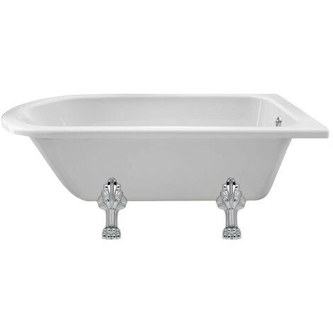Hudson Reed Winterburn 1500mm x 750mm Freestanding Shower Bath with Pride Leg Set - RLF1500C2