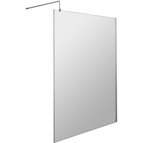 Hudson Reed WRSB1200 Apex | Modern Bathroom Reversible Wet Room Shower Screen with 8mm Toughened Safety Glass, 1198mm, Glass