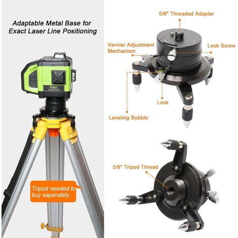 Huepar ?lectronique Auto-nivellement 3D Niveau laser ¨¤ faisceau vert-3x360 Ligne transversale 130FT Niveau professionnel DT03G