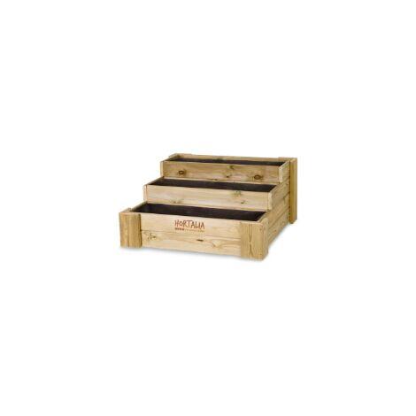 Huerto Urbano BOX STAIRS 120 120x80x40 cm 210 Litros HORTALIA