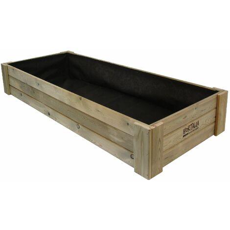 Huerto Urbano BOX XXL30 200x80x30 cm 390 Litros HORTALIA