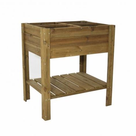 Huerto urbano de madera con 4 espacios Gardiun 80 x 60 x 88 CM