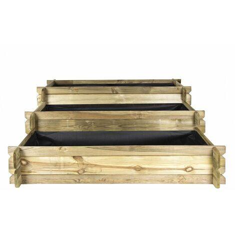 Huerto Urbano de madera - Escalera