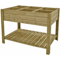 Huerto Urbano madera tratada 120*60*88 cm Gardiun - KSU13030