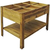 Huerto Urbano madera tratada 120*80*88 cm Gardiun - KSU13040