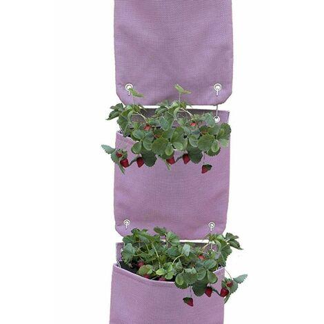 Huerto Veggie bag colgante - 3 piezas Rojo