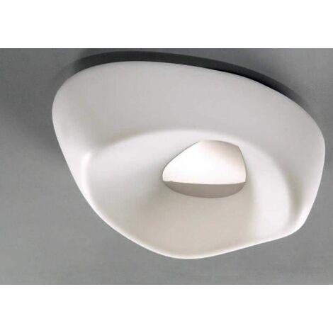 Huevo 5 Bulbs E27 Outdoor IP44 ceiling light, polished chrome / opal white