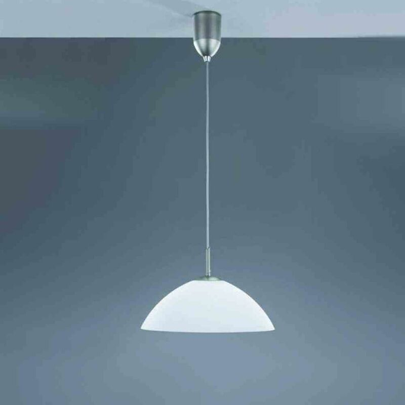 Hufnagel - Pendelleuchte 100W HV-Halogenlampe Glas satiniert Leuchte Lampe Beleuchtung TOP