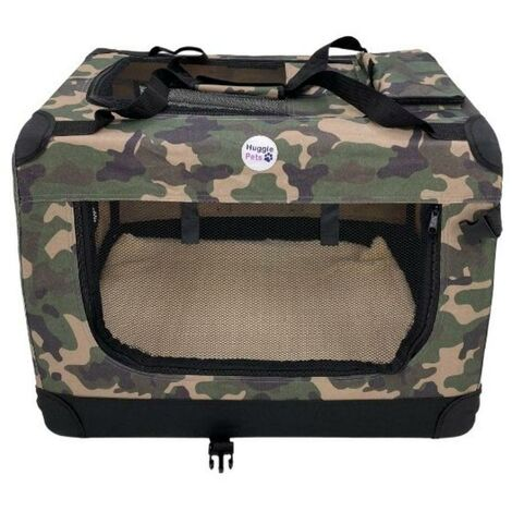 Hugglepets Fabric Crate - Large Camo Green