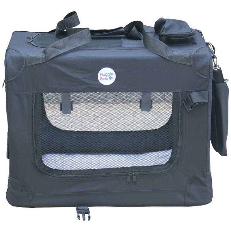 Image of Fabric Crate - Medium Black - Hugglepets