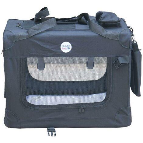Hugglepets Fabric Crate - Medium Black