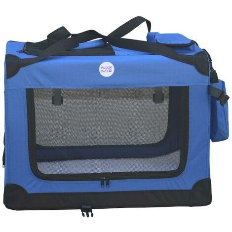 Hugglepets Fabric Crate - Medium Blue
