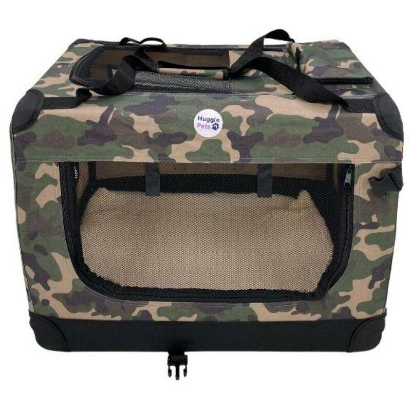 Image of Fabric Crate - Medium Camo Green - Hugglepets