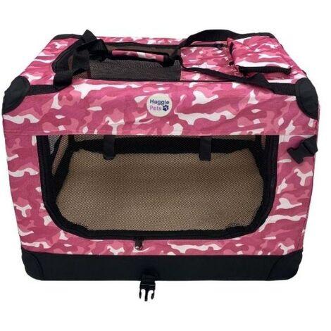 HugglePets Fabric Crate - Medium Camo Pink
