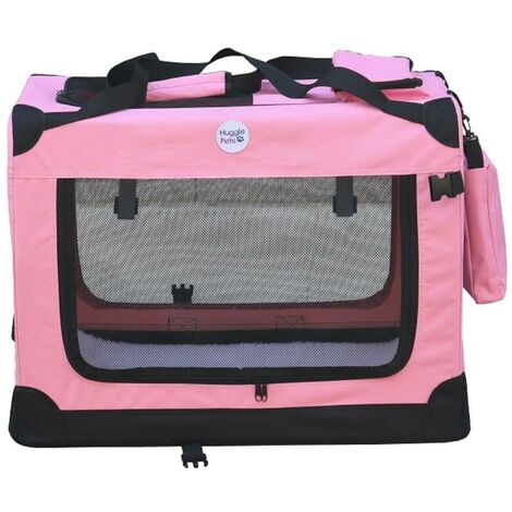 Hugglepets Fabric Crate - Small Pink