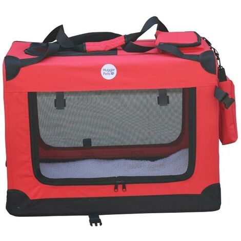 Hugglepets Fabric Crate - Small Red