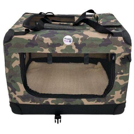 Hugglepets Fabric Crate - XL Camo Green