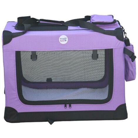 Hugglepets Fabric Crate - XL Purple