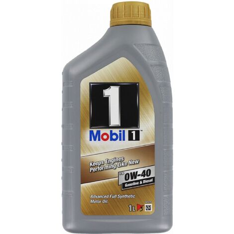 Huile 1 Fs 0w40 1l pour moteur diesel ou essence Mobil