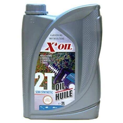 Huile 2 temps semi-synthétique X'OIL pour tronçonneuse - 2 litres