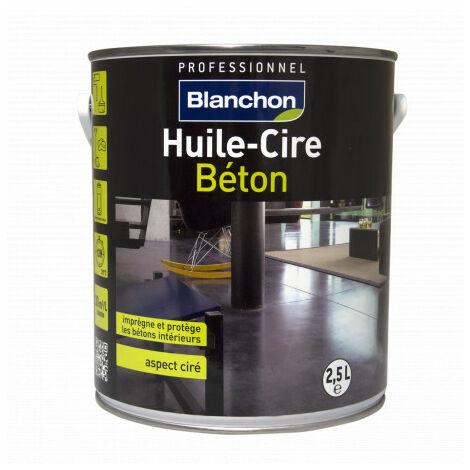 Huile cire beton aspect ciré incolore - 2.5L