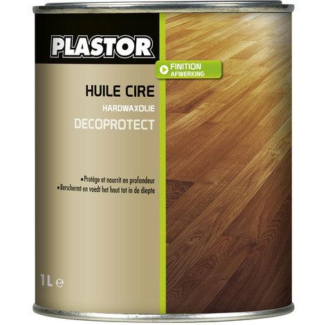 Huile cire parquet Décoprotect Plastor : assure une protection durable des bois intérieurs, protège efficacement des taches
