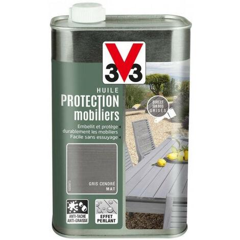 Huile de protection mobilier V33 1L - Teinte: gris moyen
