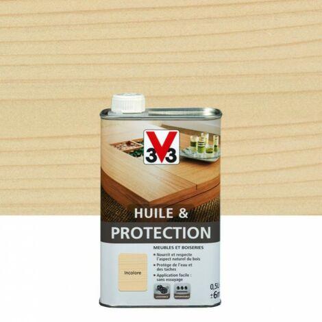 Huile et protection meuble et objet V33 incolore mat 0.5 l