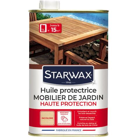 """main image of """"Huile haute protection teck & bois exotiques pour mobilier de jardin incolore 1L STARWAX"""""""