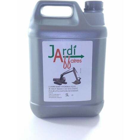 Huile hydraulique Iso HV46 professionnelle Jardiaffaires 5 litres