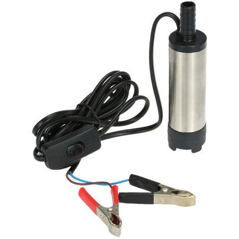Huile Liquide Diesel Carburant Pompe a Eau Pompe De Transfert 12V Eau Huile Fluide Ravitaillement, modele: 42