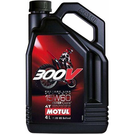 Huile Moteur Motul 300 V 4T Factory Line Off Road 15W-60, 4 litres