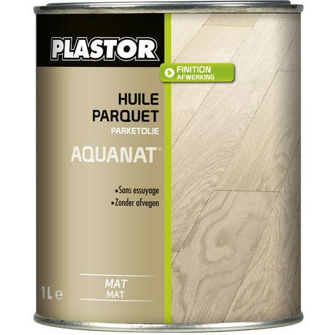 Huile parquet Aquanat Plastor : huile parquet phase aqueuse pour protéger en conservant l'aspect brut du bois