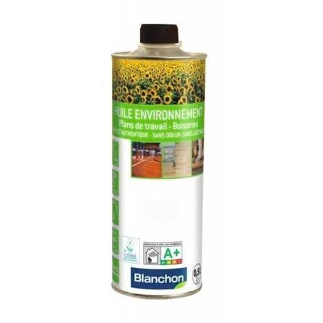 Huile parquet environnement, bois naturel, boîte de 1 litre - Bois naturel - Bois naturel