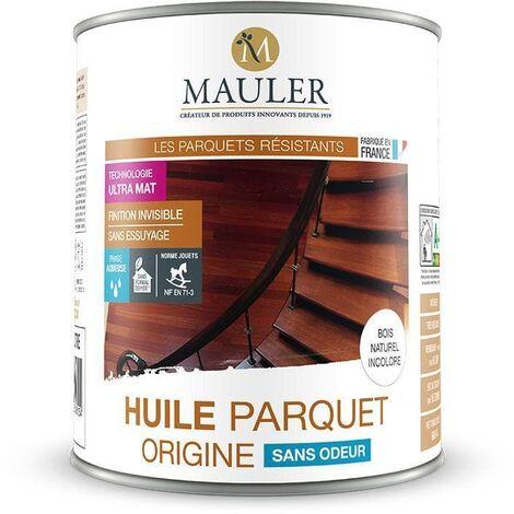 Huile Parquet ORIGINE sans odeur - MAULER 1 litre -