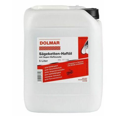 Huile pour chaînes tronçonneuses Biotop, bio dégradable 5l/Qté:1 / Contenance:5 l Dolmar 980008211