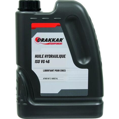HUILE POUR CRIC HYDRAULIQUE ISO VG 46- 2 litres -DRAKKAR EQUIPEMENT 06735