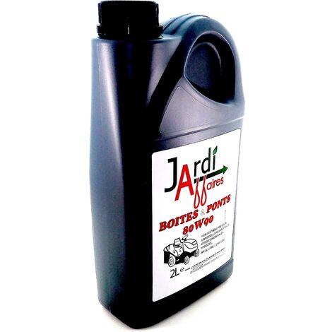 Huile professionnelle pour transmission 80W90 GL5 Jardiaffaires 2 litres