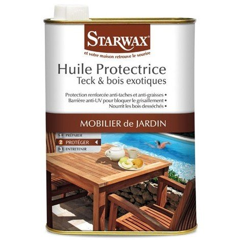 Huile protectrice bois extérieur teck 1l STARWAX -ST0193