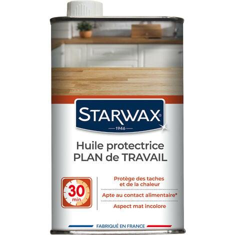 Huile protectrice pour plan de travail en bois huilé 500ml STARWAX