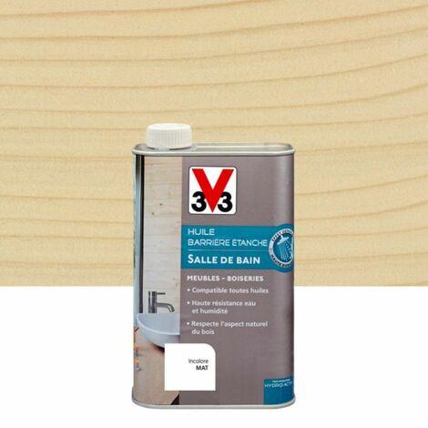 Huile salle de bains Barrière étanche V33 incolore mat 0.5 l