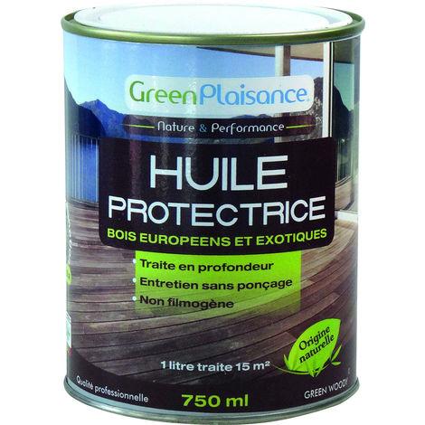 HUILE SATURATEUR TERRASSE BOIS origine végétale Hydrofuge - 750Ml - S09947 GreenPlaisance