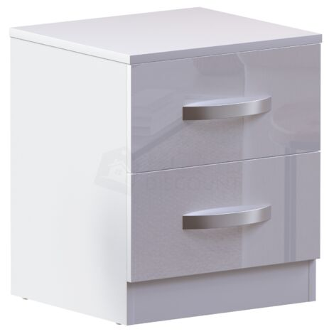 Hulio 2 Drawer Bedside Cabinet, White