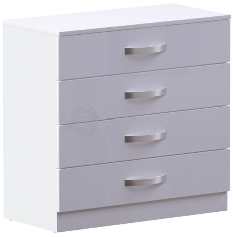 Hulio 4 Drawer Chest, White