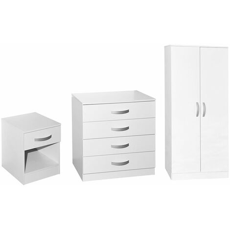 Hulio Trio Bedroom Set, White