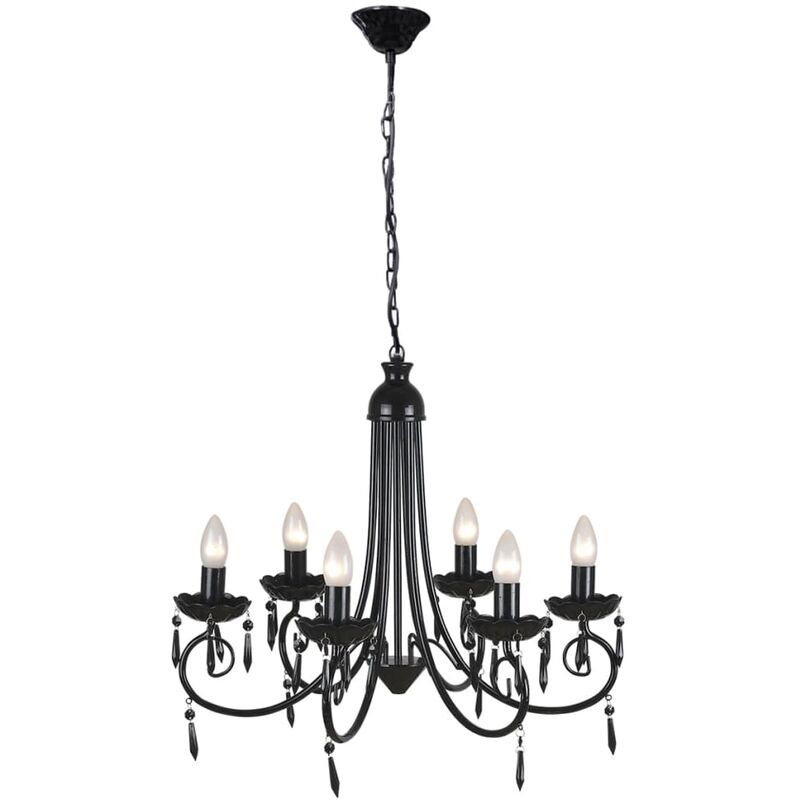 Image of Humboldt 6-Light Candle Style Chandelier by Black - Classicliving
